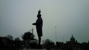 Seagulls have no respect for historical figures.